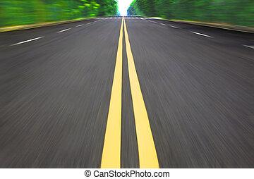 route, vitesse