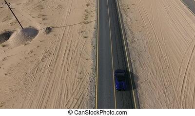 route, voiture, sport, désert