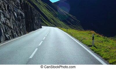 route, voyage, alps.
