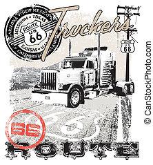 route66, arizona, camion