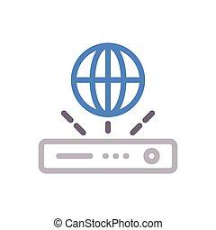 router  color line icon