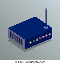 router device isometric icon