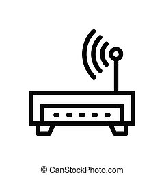 router  flat color icon