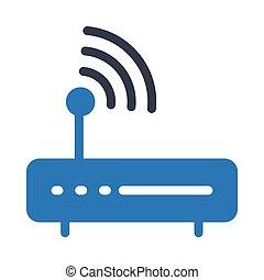 router glyph color icon
