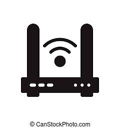 router  glyph flat icon