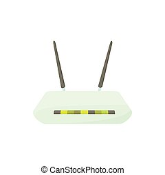 Router icon in cartoon style