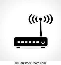 Router icon on white background