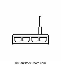 Router icon, outline style