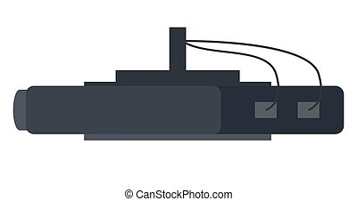 Router, single icon in monochrome style. Router vector symbol, modern equipment illustration