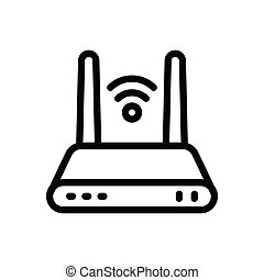router thin line icon