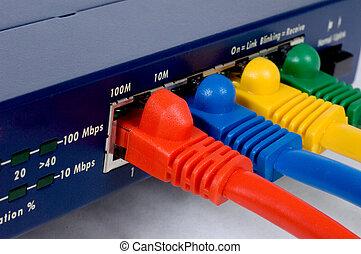 router, und, kabel