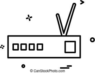 router, vector, ontwerp, pictogram