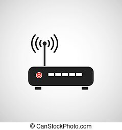 router, vector, pictogram