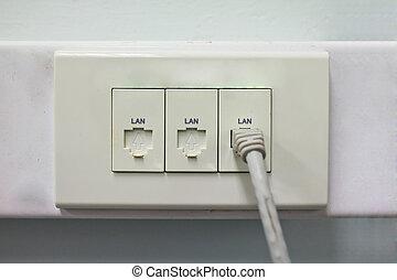 router, vernetzung, (lan)
