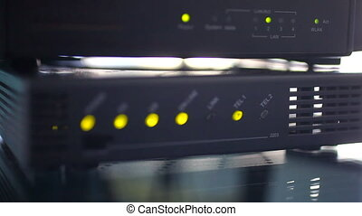 Router wireless light turn on and off