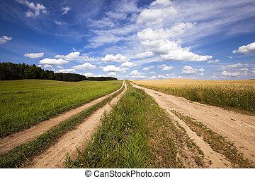 routes, rural, deux