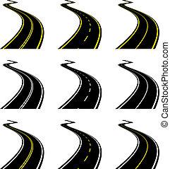 routes, vecteur