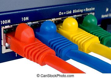 routeur, 2, câbles