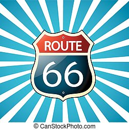 routez-en 66, signe