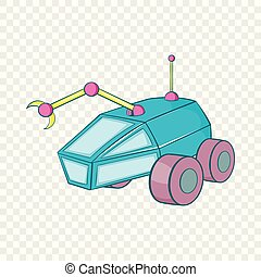 Rover icon, cartoon style - Rover icon in cartoon style...