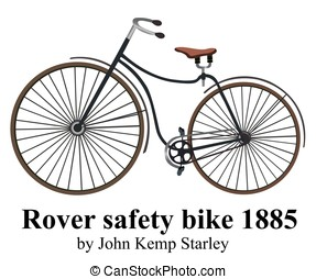 Rover safety bike isolated on white background. Vector illustration