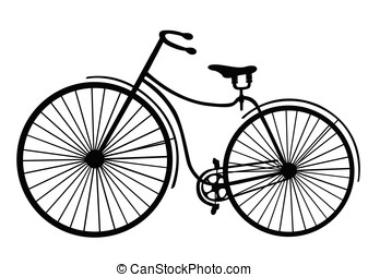Rover safety bike silhouette isolated on white background. Vector illustration