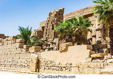 rovine antiche, di, karnak, tempio, in, egitto