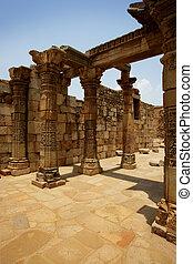 rovine, antico, india