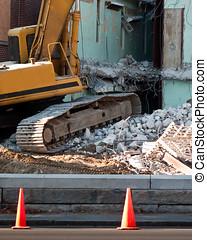 rovine, idraulico, scavatore