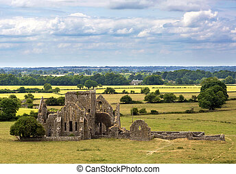 rovine, paesaggio, chiesa