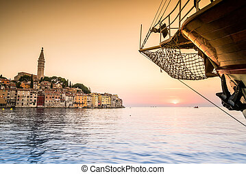 Rovinj as beautiful summer destination, Croatia