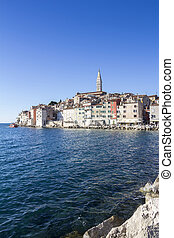 Rovinj beautiful old town in Istria of Croatia Europe