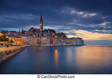 Rovinj, Croatia. - Beautiful romantic old town of Rovinj...