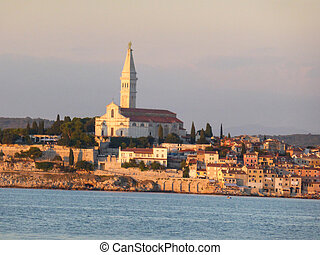 Rovinj, Croatia – September, 9: the cobbled streets of...