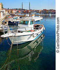 Rovinj Harbour Scene, Croatia