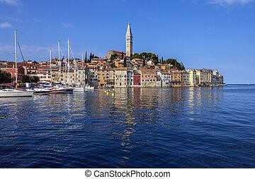 Rovinj - Istrian Peninsula - Croatia - The city of Ravinj on...