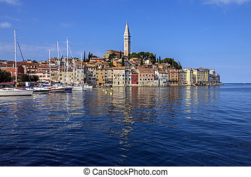 Rovinj - Istrian Peninsula - Croatia - The city of Ravinj on...