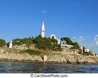 rovinj, kroatië, –, september, 9:, de, verstellen, straten,...