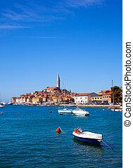 Rovinj little city in Istria, Croatia - View of Rovinj...