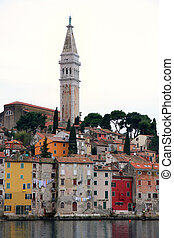 Rovinj old town, Cathedral of St. Euphemia in Istria, Croatia