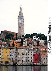 Rovinj old town, Cathedral of St. Euphemia in Istria, Croatia