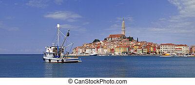 Rovinj Panoramic View - Old Croarian Town Rovinj Panorama