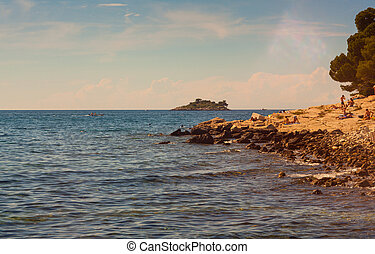 Rovinj sea - View of Rovinj coast in Istria, Croatia