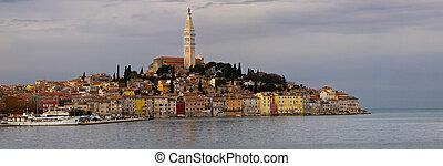 rovinj - panorama of old Adriatic city Rovinj