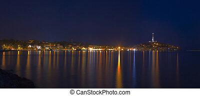 Rovinj Town Panorama - Panoramic View of Croatian Town...