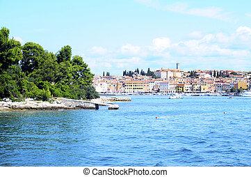 Rovinj village in Croatia - Rovinj village, harbour and sea...