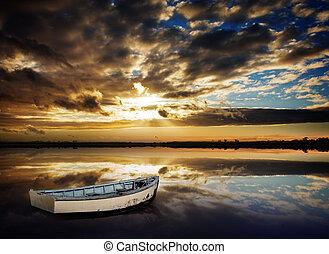 Row Boat Sunset