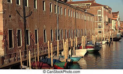 Row Boats In Venice Canal