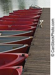 Row Boats on a Lake