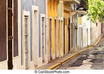 row houses in san juan - colorful row houses in san juan...